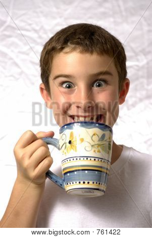 Boy With Coffee Cup