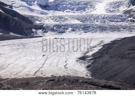 Athabasca Glacier And Columbia Ice Field