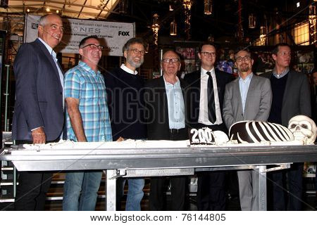 LOS ANGELES - NOV 14:  Rupert Murdock, executives of Bones and FOX at the