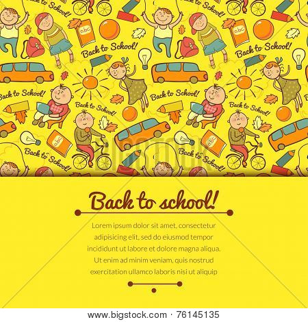 Vector cheerful background with children