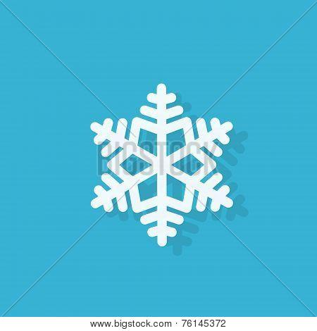 snowflake flat icon design vector illustration