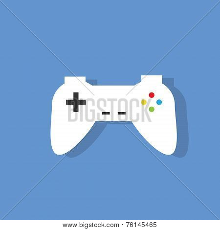 gamepad flat icon design vector illustration
