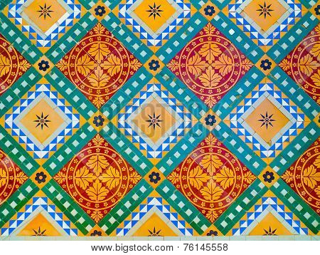 Colorful Floor Decoration In Junagarh Fort