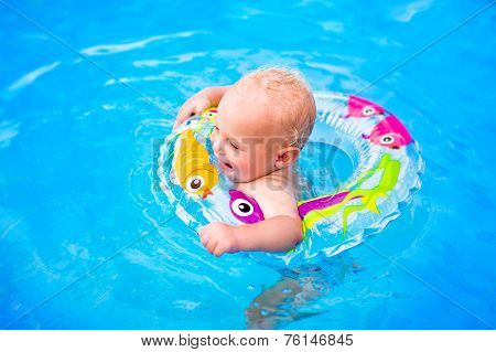 Little Baby In A Swimming Pool