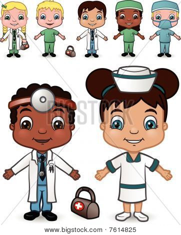 Doctor and Nurse Children set 2