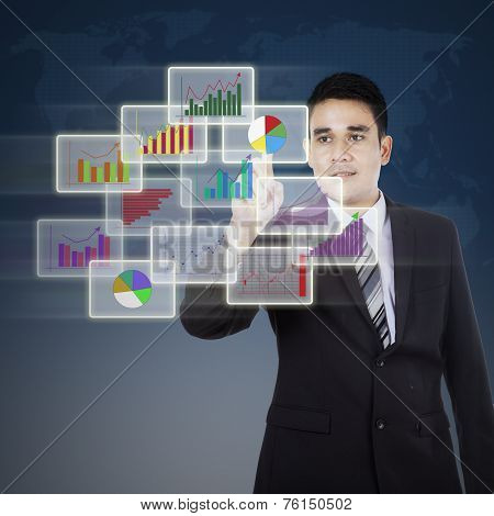 Businessman And Modern Graph