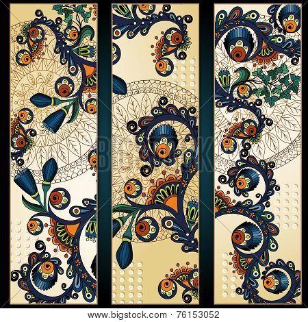 Paisley batik background. Ethnic tribal cards.