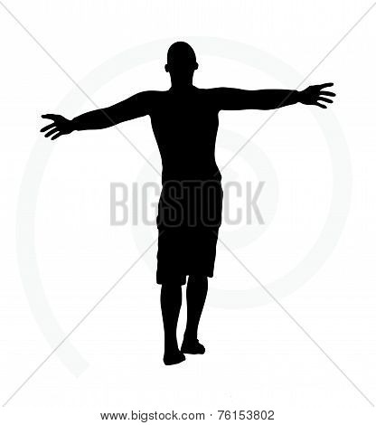 Man Silhouette Isolated