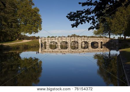 Bridge In The Castle Of Chambord,  Loire Et Cher, Centre Region, France