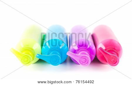 Multicoloured Lotion Bottles
