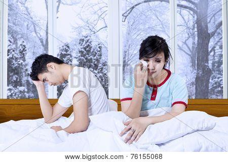 Sadness Couple After Quarreling At Home
