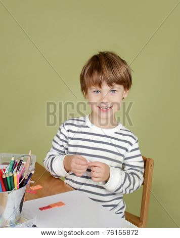 Happing, Laughing, Smiling Child At School,