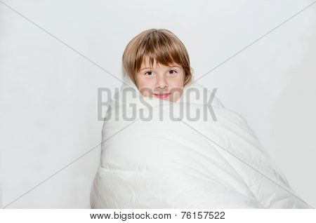 Girl And Blanket