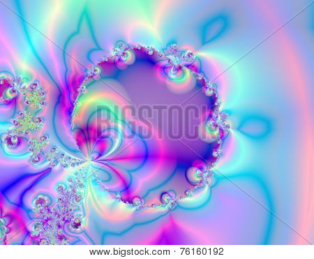Abstract blue and purple balloon