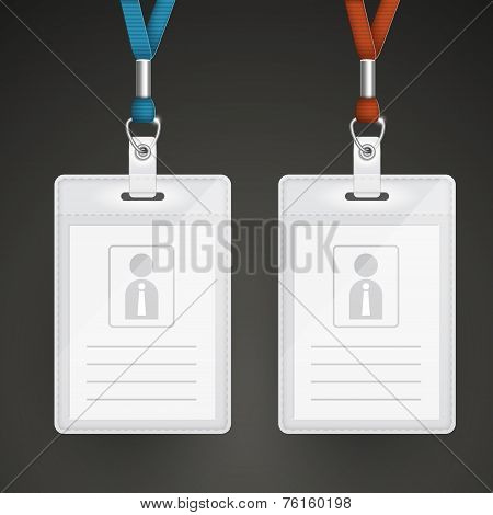 Blank Identification Cards Set Template