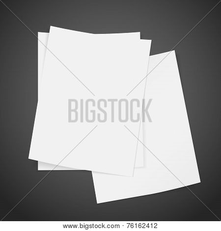 Blank Stack Of Paper