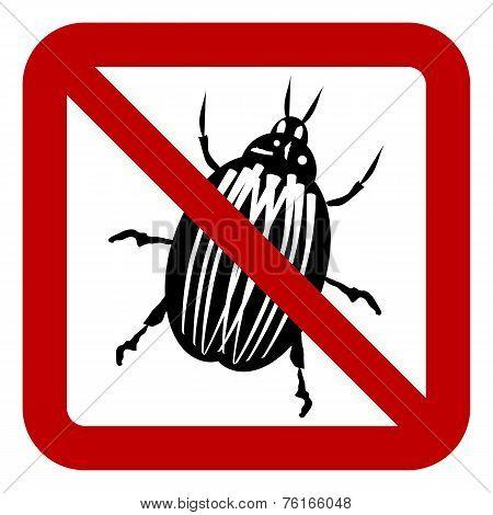 No Bug Sign vector