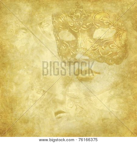 Golden Faded Venetian mask background