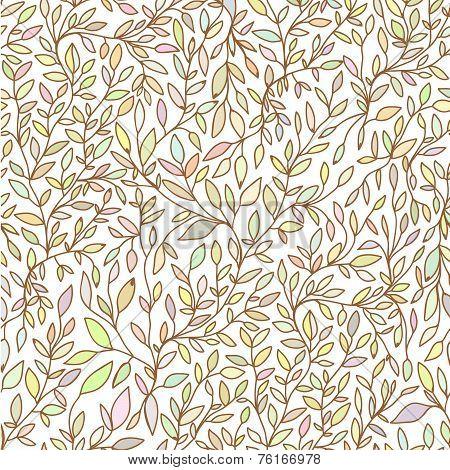 Brunch Nature Hand Drawn Seamless Pattern  Pastel