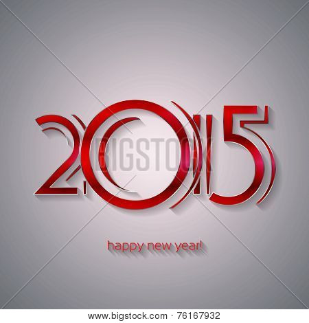 Happy New Year 2015 Greeting Card | EPS10 Vector Design