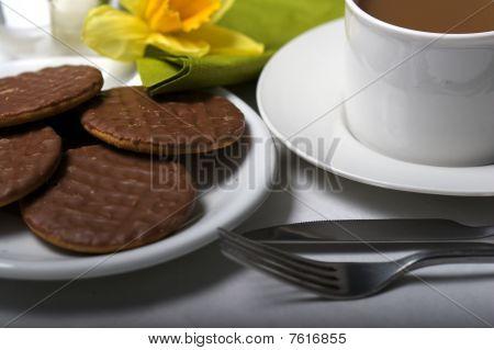 Coffee Break In A Cafe Bar