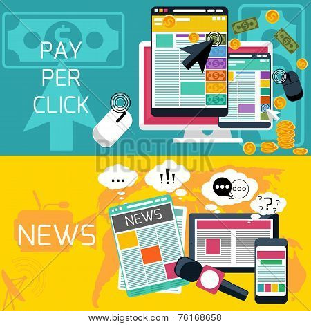 Pay per click and journalism news banners