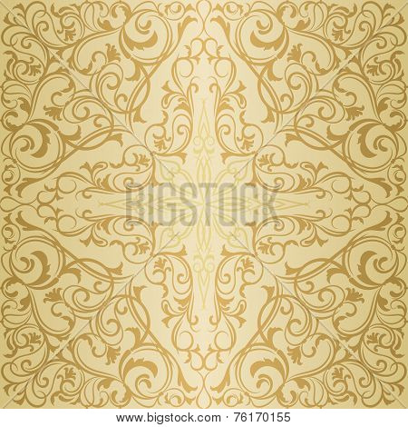 Gold orient pattern
