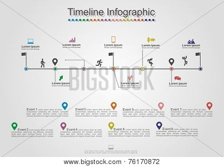 Infographics timeline element layout. Vector