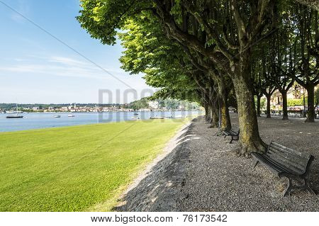 Lake Maggiore, Angera In Summer Season