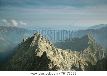 View from Rysy in Polish Tatras