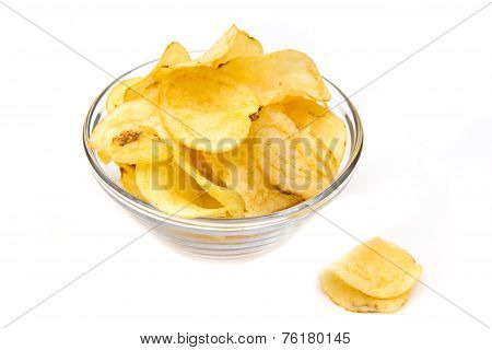 Bowl with potato chips