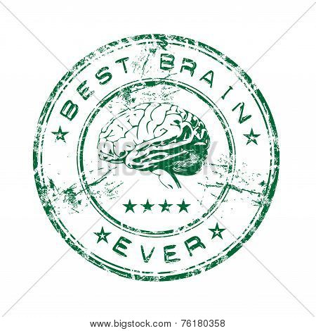 Best brain ever rubber stamp