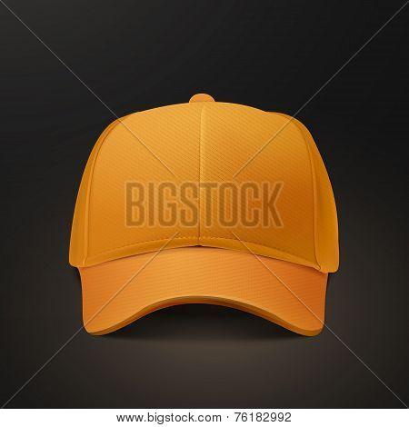 Blank Hat In Orange