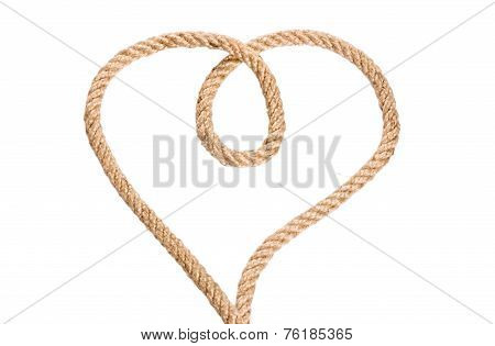 Rope Heart Shaped Symbol