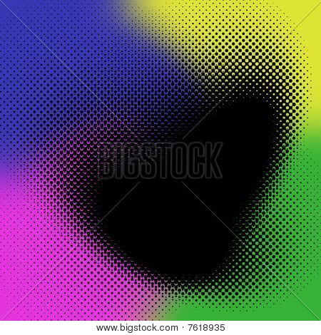 Rainbow Halftone Background