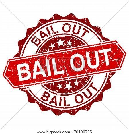 Vector Bail Out Red Vintage Stamp Isolated On White Background