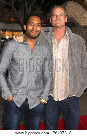 LOS ANGELES - NOV 3:  Brandon P Bell, Brian Van Holt at the Dumb and Dumber To Premiere at the Village Theater on November 3, 2014 in Los Angeles, CA