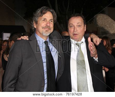 LOS ANGELES - NOV 3:  Peter Farrelly, Bobby Farrelly at the Dumb and Dumber To Premiere at the Village Theater on November 3, 2014 in Los Angeles, CA