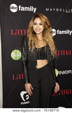 LOS ANGELES - NOV 13:  Jasmine Villegas at the Latina Magazine's '30 Under 30' Party at the Mondrian Hotel on November 13, 2014 in West Hollywood, CA