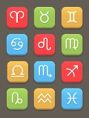 picture of pisces horoscope icon  - Zodiac icon for web or mobile - JPG
