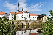 picture of bohemia  - gothic medieval Vyssi Brod monastery - JPG