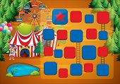 pic of circus clown  - Circus theme board game with clown - JPG