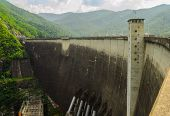 picture of hydroelectric power  - bhumibol dam built for the purposes of water storage hydroelectric power production flood control fisheries and saltwater intrusion management.