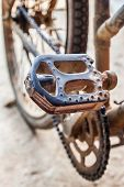 stock photo of pedal  - Closeup view of old bicycle - JPG
