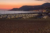 foto of cleopatra  - The sunset at the Cleopatra beach in Alanya - JPG