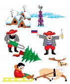 image of chukotka  - set of vector images on Russian Siberia - JPG