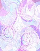 stock photo of pastel colors  - abstract pink background with some circles in it - JPG