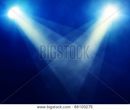 Illustration Of Bright Stage Spotlights