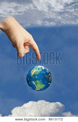Earth In Heaven Touched By The Hand Of God