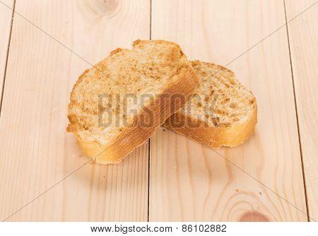 White bread toast.